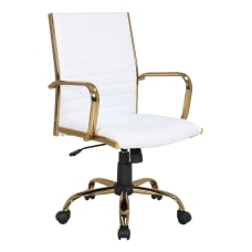 LumiSource Masters Office Chair GoldWhite