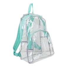 Eastsport Clear PVC Backpack Turquoise