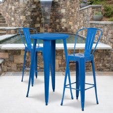 Flash Furniture Round Metal Bar Table