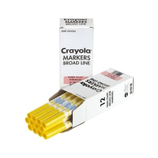Crayola Washable Broad Line Markers Yellow