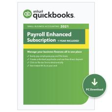Intuit QuickBooks Desktop Payroll Enhanced 2021