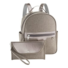Laptop Backpack And Wallet Set Gray