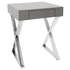 Lumisource Luster Contemporary Side Table Square
