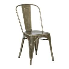 Office Star Bristow Armless Chair Gunmetal