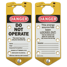 Labeled Lockout Hasps 3 in W