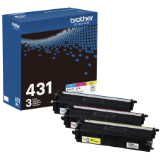 Brother TN431 CyanMagentaYellow Toner Cartridges Pack