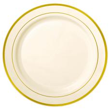 Amscan Premium Plastic Plates With Trim