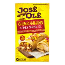 Jose Ole Steak Cheese Chimichangas 80