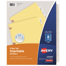 Avery Big Tab Insertable Dividers Copper