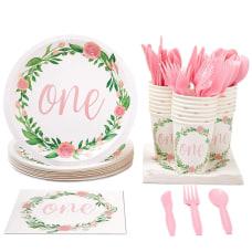 Juvale Disposable Dinnerware Set Serves 24