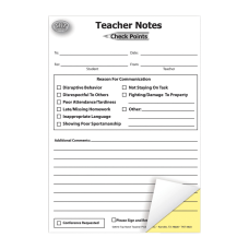 Top Notch Check Points Carbonless Teacher
