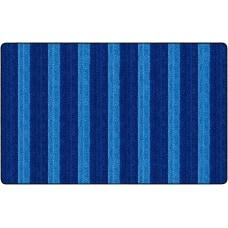 Flagship Carpets Basketweave Stripes Classroom Rug