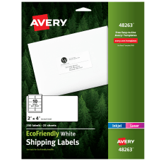 Avery EcoFriendly Permanent Shipping Labels 48263