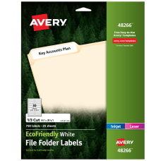 Avery Easy Peel EcoFriendly Permanent File
