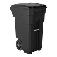 Suncast Commercial Wheeled Square HDPE Trash