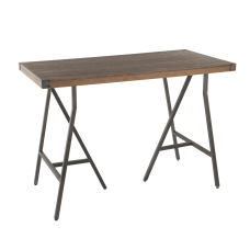 Lumisource Trestle Industrial Counter Table Rectangular