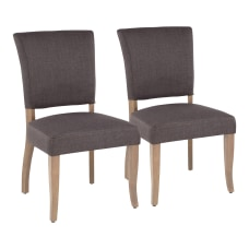 LumiSource Rita Dining Chairs GrayAsh Set