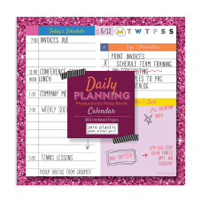 TF Publishing Undated Daily Planning Calendar