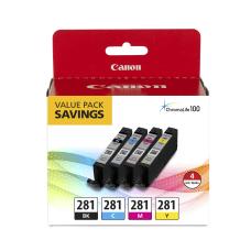 Canon CLI 281 BlackCyanMagentaYellow Ink Tanks