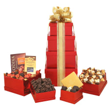 Givens Gift Basket Godiva Holiday Tower