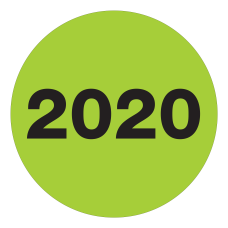 Office Depot Brand 2020 Year Labels