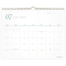 Cambridge WorkStyle Academic Monthly Wall Calendar