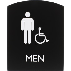 Lorell Restroom Sign 1 Each Men