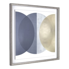Lorell Circle Design Framed Abstract Art