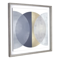 Lorell Circle Design Framed Abstract Art