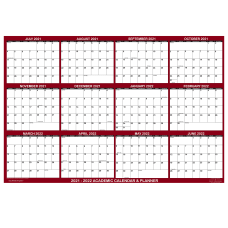 SwiftGlimpse Laminated Academic Wall Calendar 32