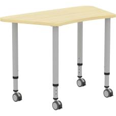 Lorell Height adjustable Trapezoid Table Trapezoid