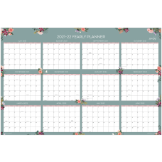Blue Sky Laminated Wall Calendar 36