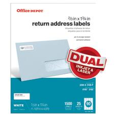 Office Depot Brand InkjetLaser Return Address