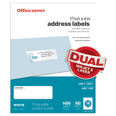Office Depot Brand InkjetLaser Address Labels