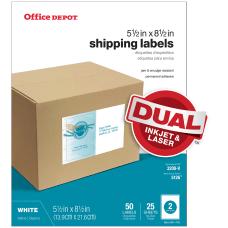Office Depot Brand InkjetLaser Shipping Labels