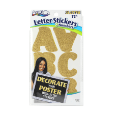 Artskills Alpha Stickers 2 Gold Glitter