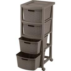 Rimax Rolling Storage Cart 4 Drawer