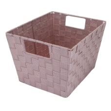 Realspace Woven Storage Tote Medium Size