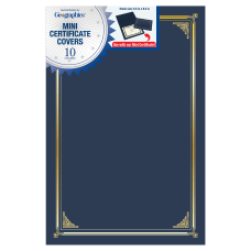 Geographics Linen Mini Certificate Covers 9