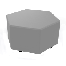 Marco Hexagon Seating Ottoman Frost