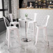 Flash Furniture Round Adjustable Height Wood