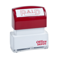 Office Depot Pre Inked Message Stamp