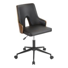LumiSource Stella Office Chair BlackWalnut