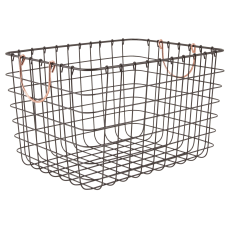 Realspace Metal Wire Bin With Handles