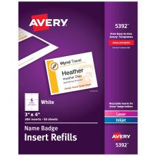 Avery Laser Name Badge Inserts 3
