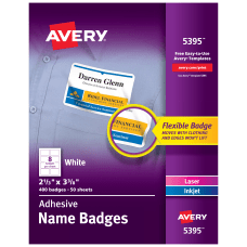 Avery Flexible Name Badge Labels 5395