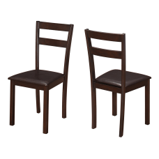 Monarch Specialties Allison Dining Chairs Dark