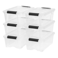 IRIS Stack Pull Storage Containers With