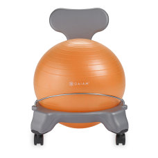 Gaiam Kids Balance Ball Chair GrayOrange