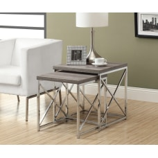 Monarch Specialties 2 Piece Nesting Table